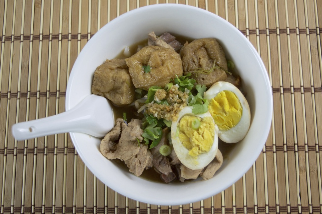 rice noodle in five spice powder soup
