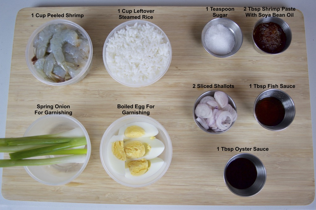 shrimp fried rice ingredients list