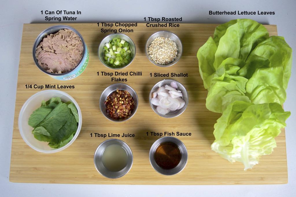 Laab Tuna Wraps ingredients list