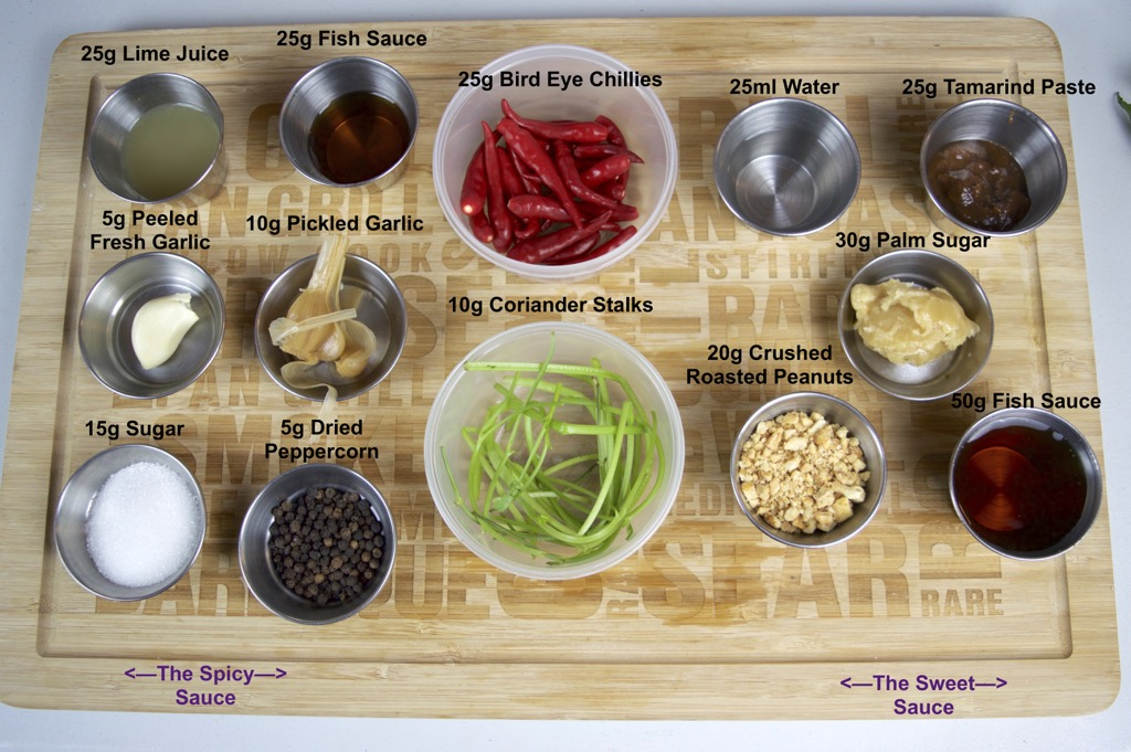 Miang Pla Pao sauces ingredients