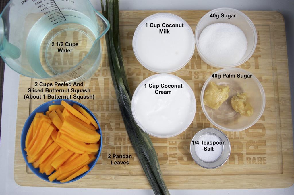 butternut squash in coconut milk ingredients list