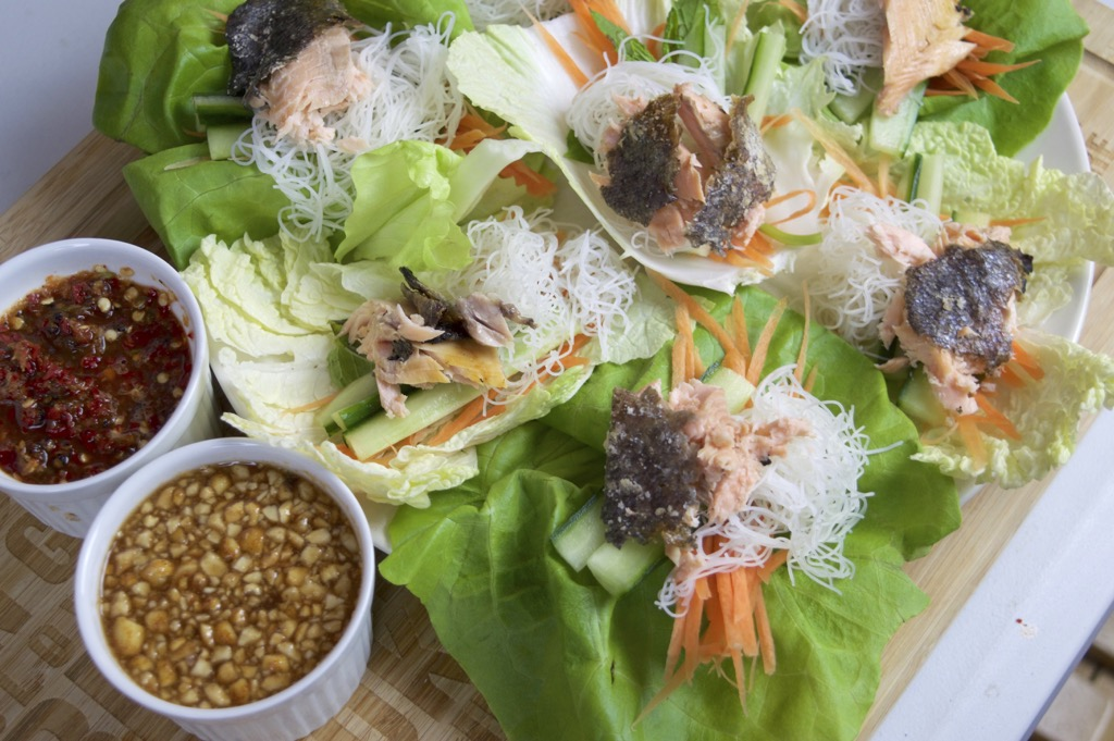 how to make miang pla pao