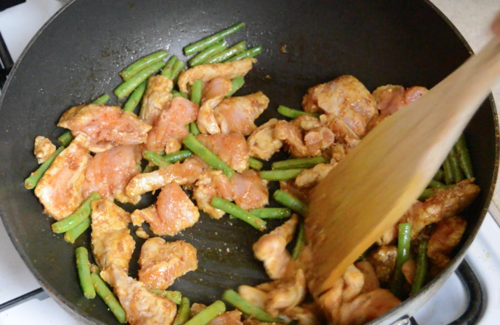 red curry paste stir fry