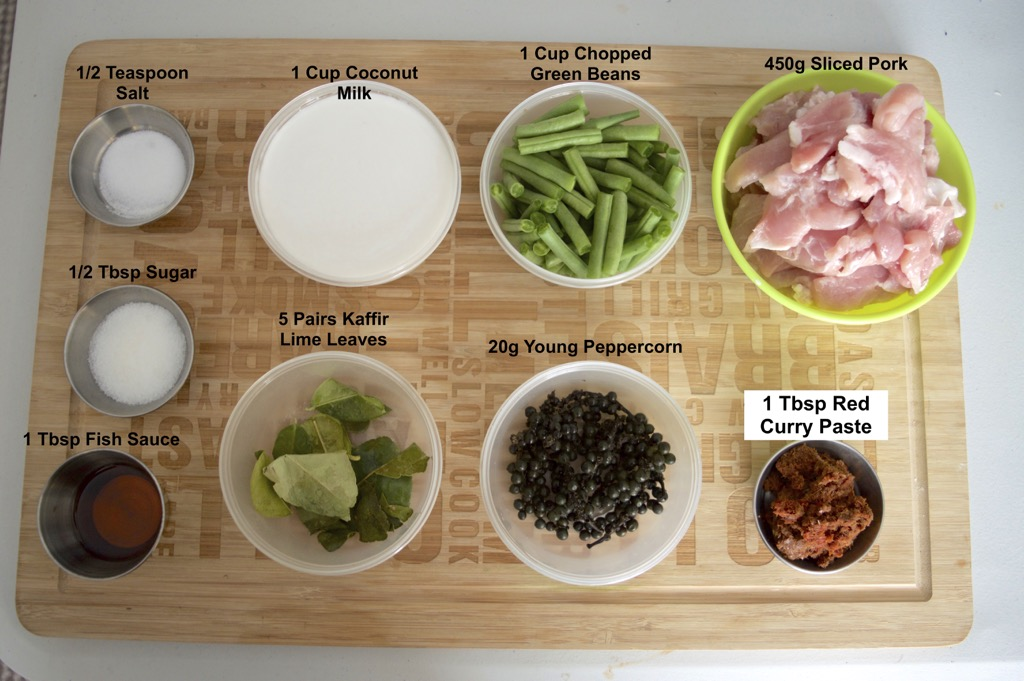 red curry stir fry ingredients list