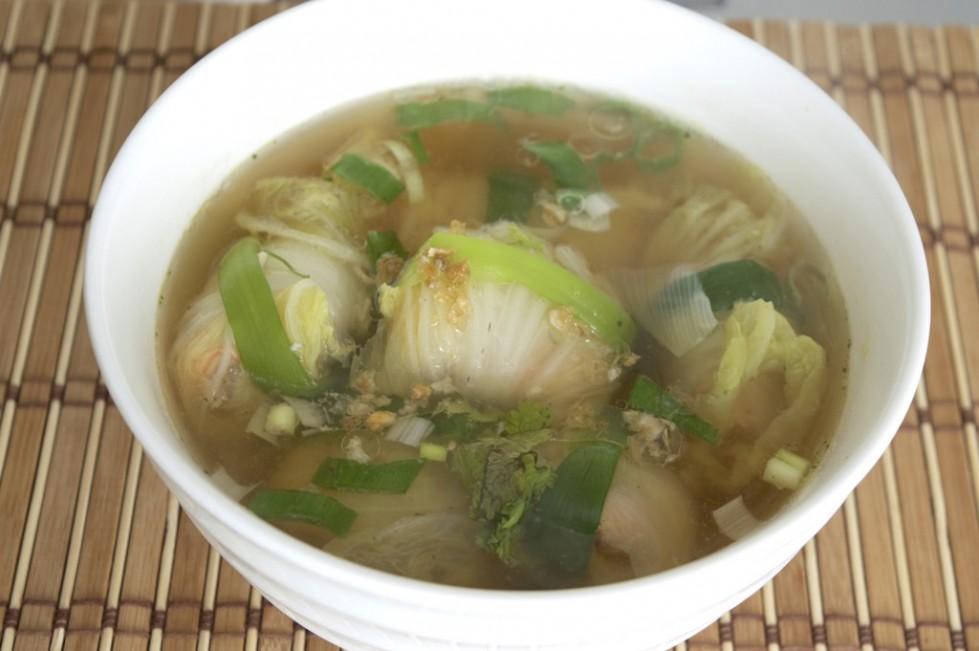 shrimp stuffed cabbage soup