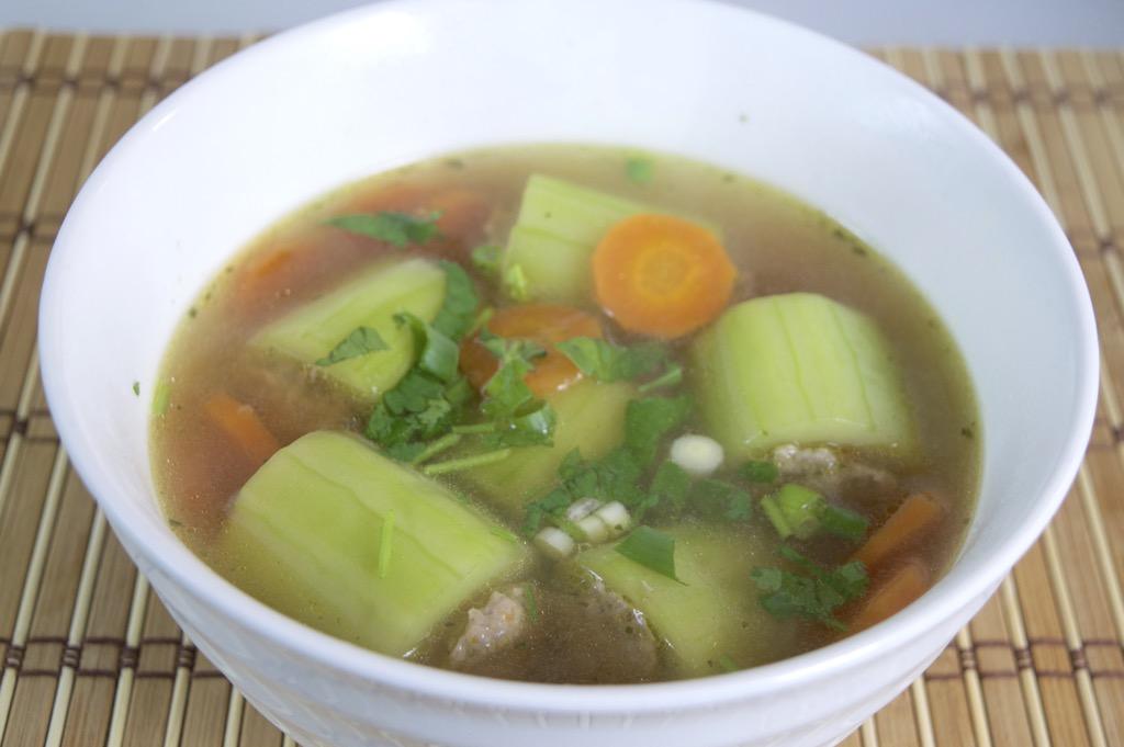 stuffed cucumber soup recipe