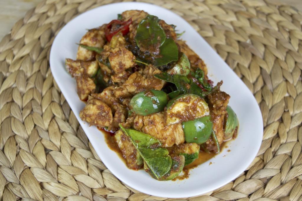 Spicy Thai Eggplant And Chicken Stir Fry
