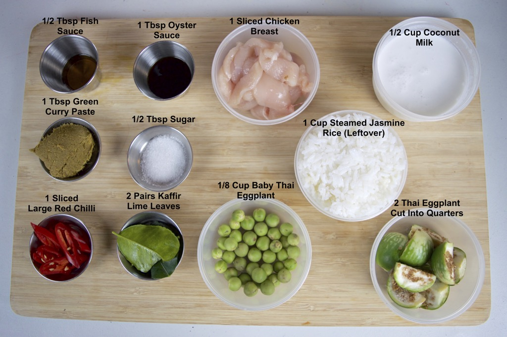 Thai green curry fried rice ingredients list