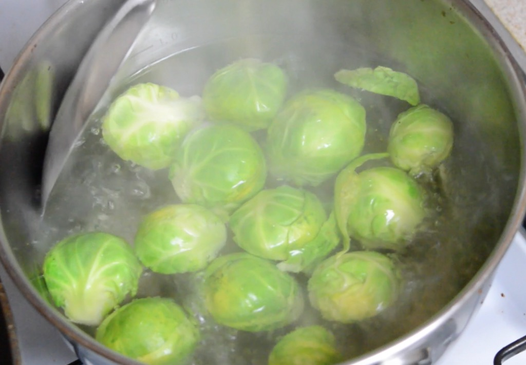 boiling the sprouts