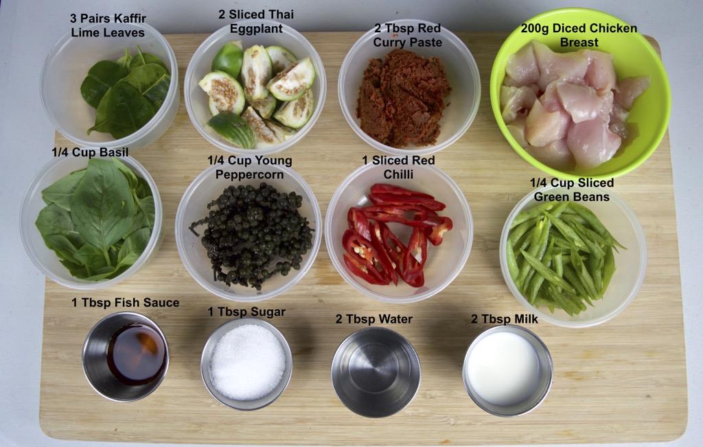 spicy thai eggplant stir fry ingredients list