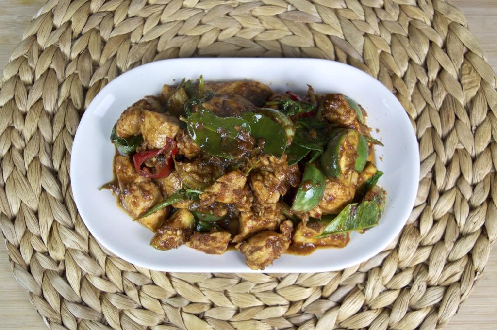 spicy thai eggplant stir fry