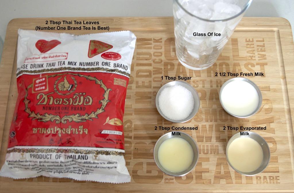 thai iced tea ingredients list