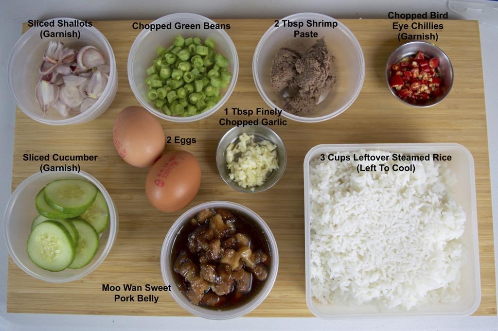 Khao Klook Kapi ingredients list