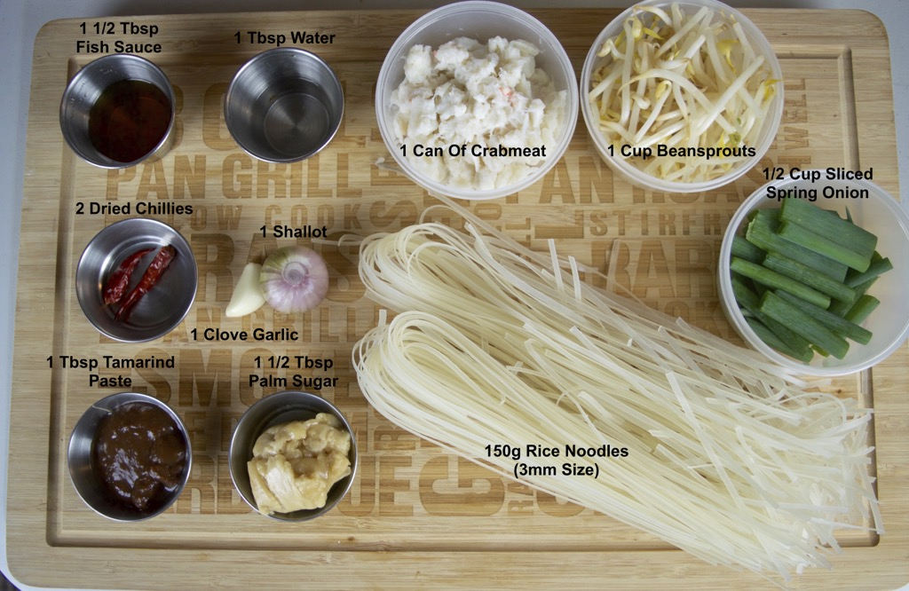 Rice Noodle Stir Fry With Crab Ingredients list