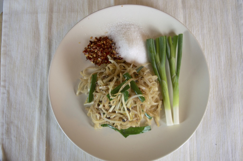Rice Noodle Stir Fry With Crab