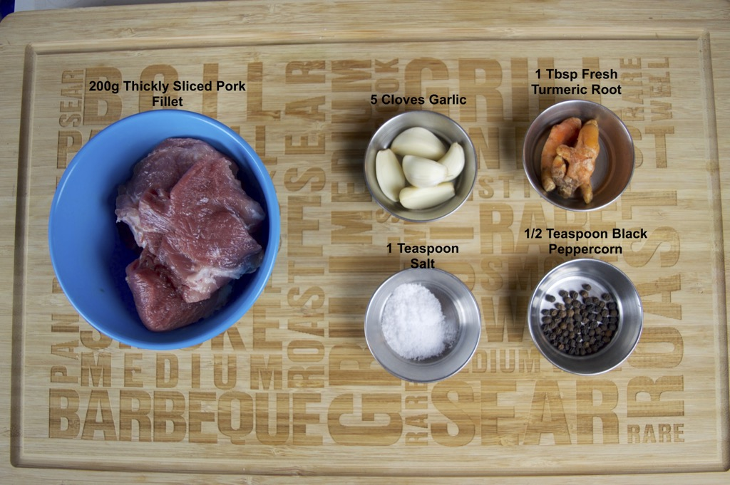 fried turmeric pork recipe ingredients list