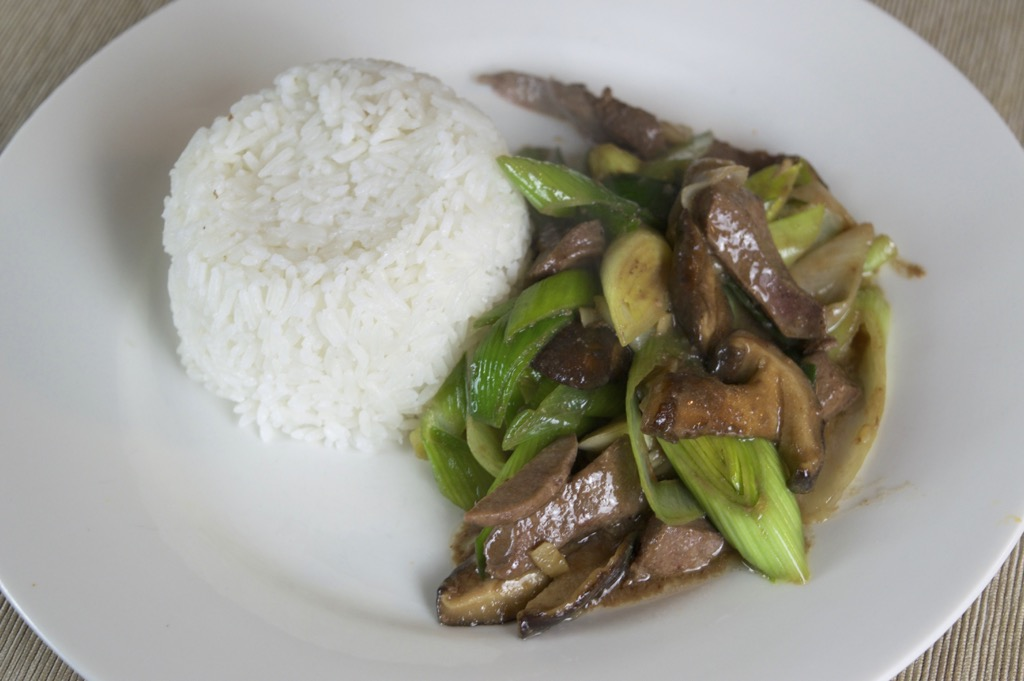 stir fried liver and leeks recipe