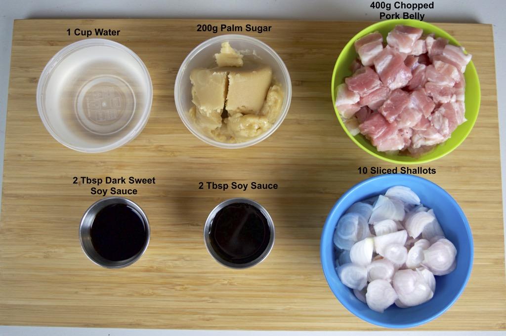 sweet pork belly ingredients list