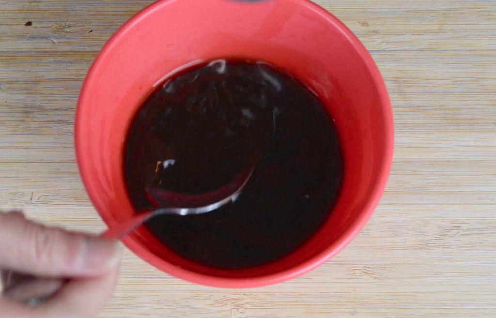 making the stir fry sauce