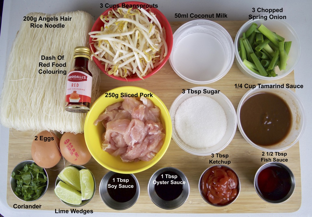 mee ga-ti coconut noodles ingredients list