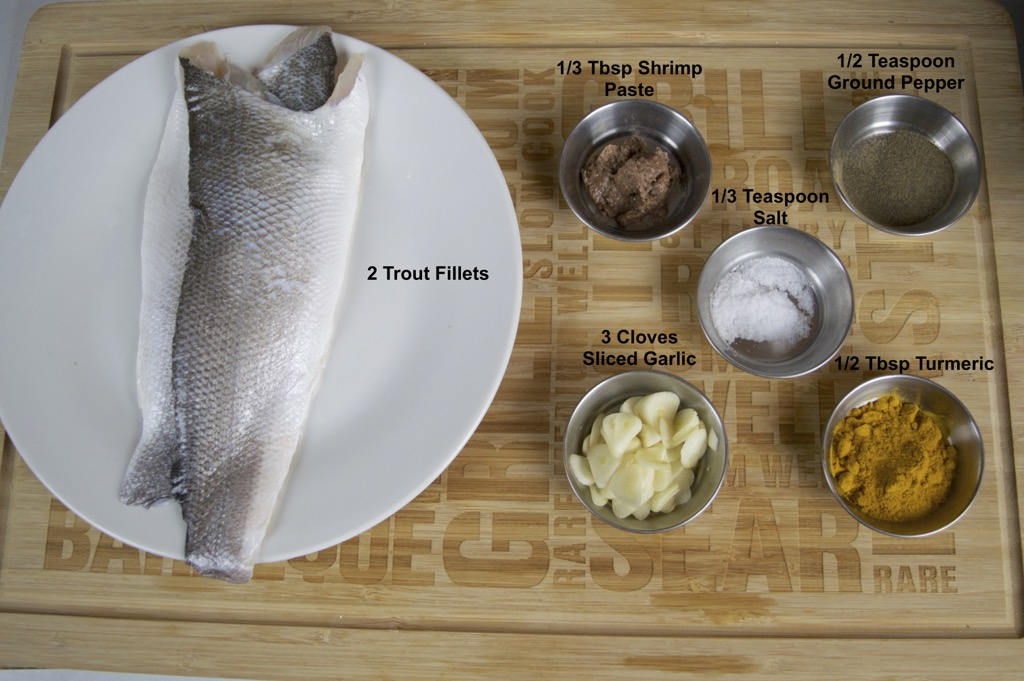 turmeric fried trout ingredients list