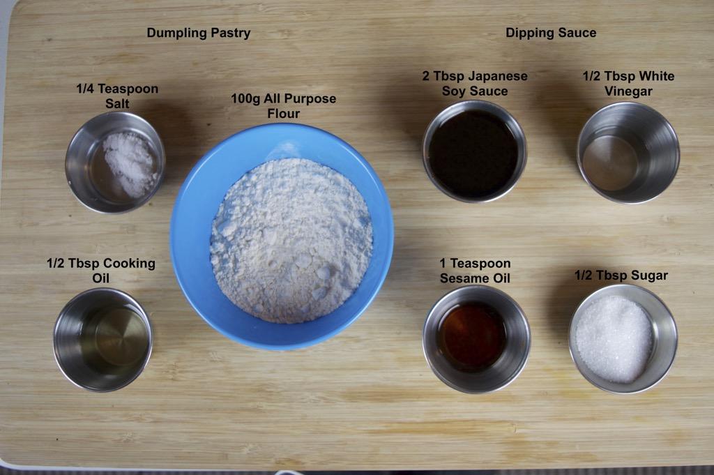 vegetable dumplings ingredients list