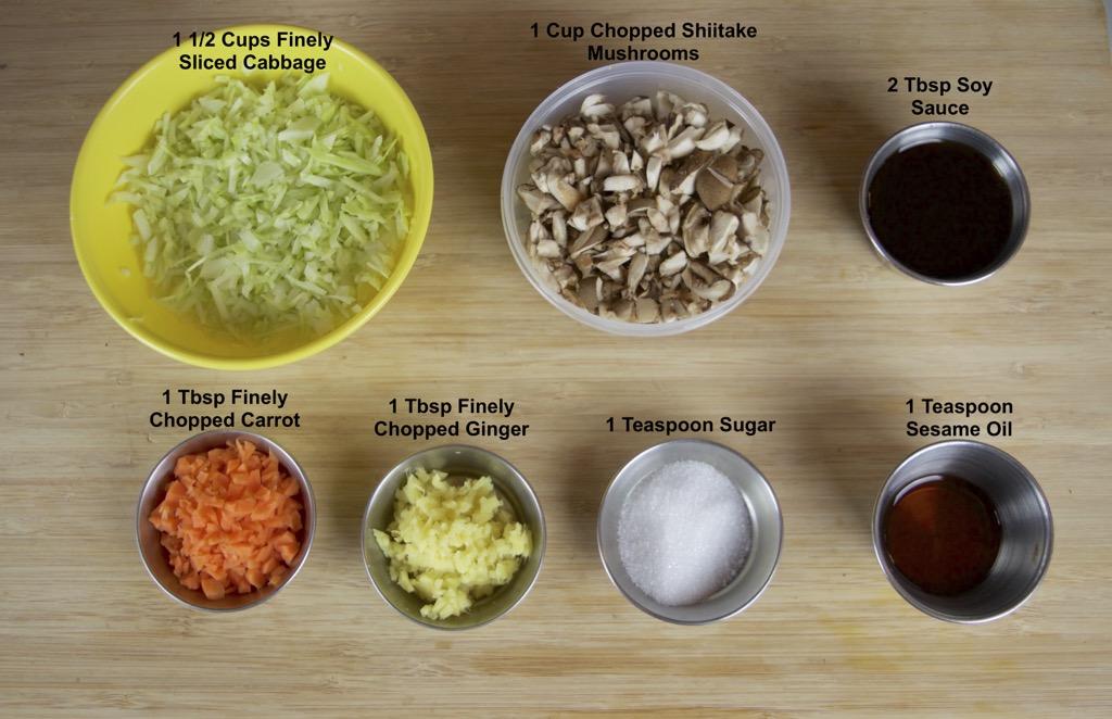 vegetable dumplings stuffing ingredients list