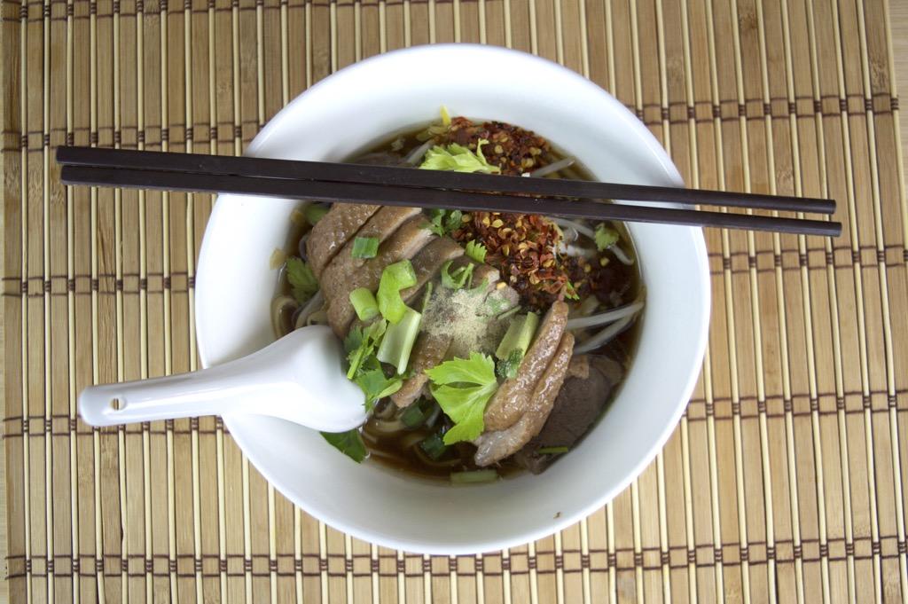 Thai duck noodle soup