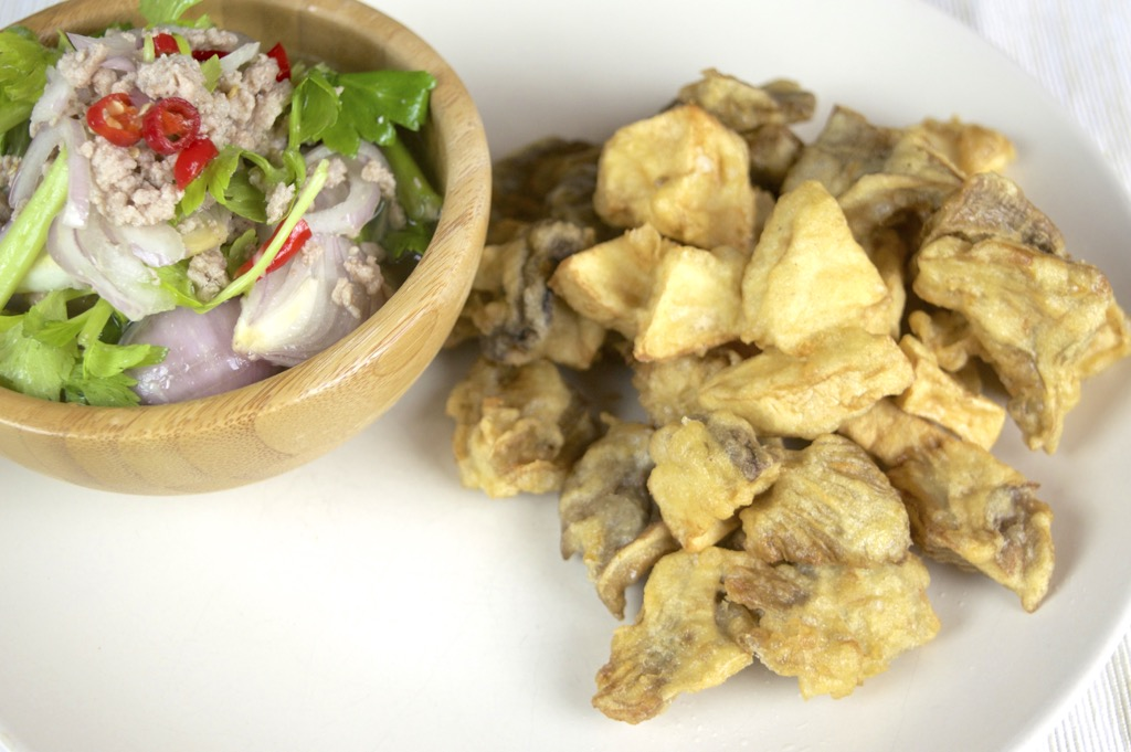 thai fried mushroom salad