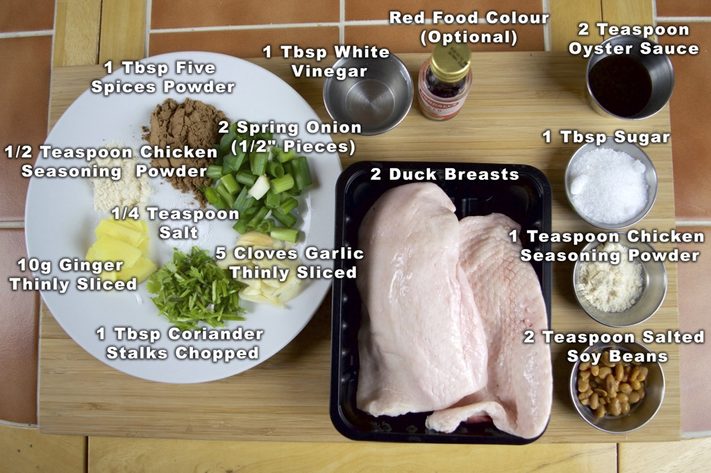 Grilled Duck (Ped Yaang) Ingredients List