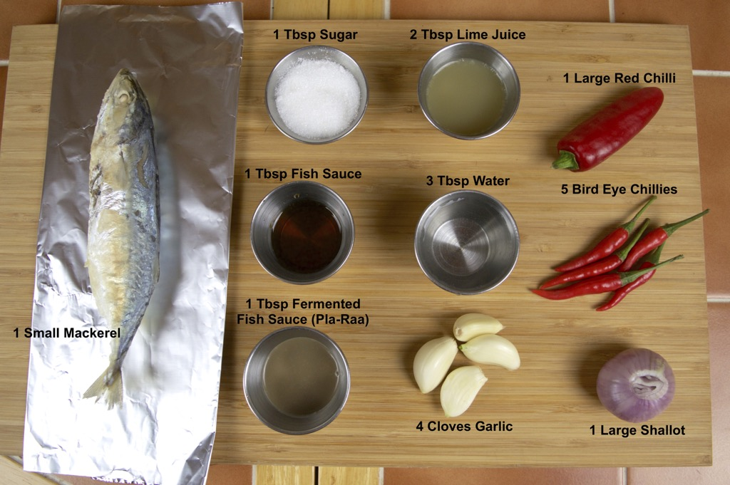 Grilled Mackerel dipping sauce ingredients list