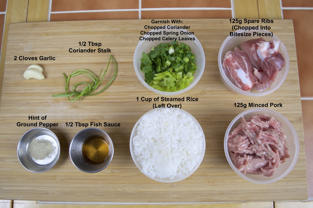 rice soup with pork ribs ingredients list