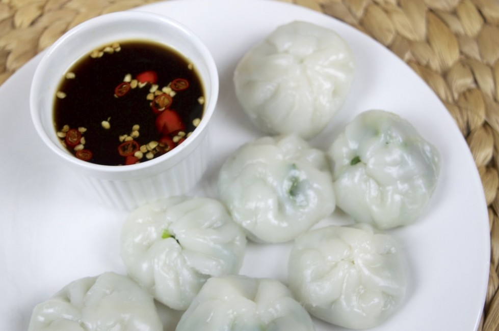 steamed chinese chive dumplings