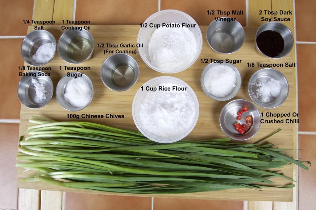 steamed chinese chive dumplings ingredients list