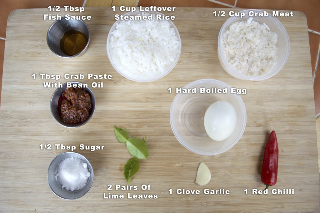 Crab Paste Fried Rice Ingredients List