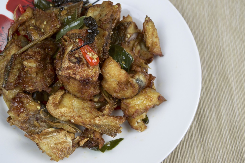 Crispy Fried fish stir fry recipe