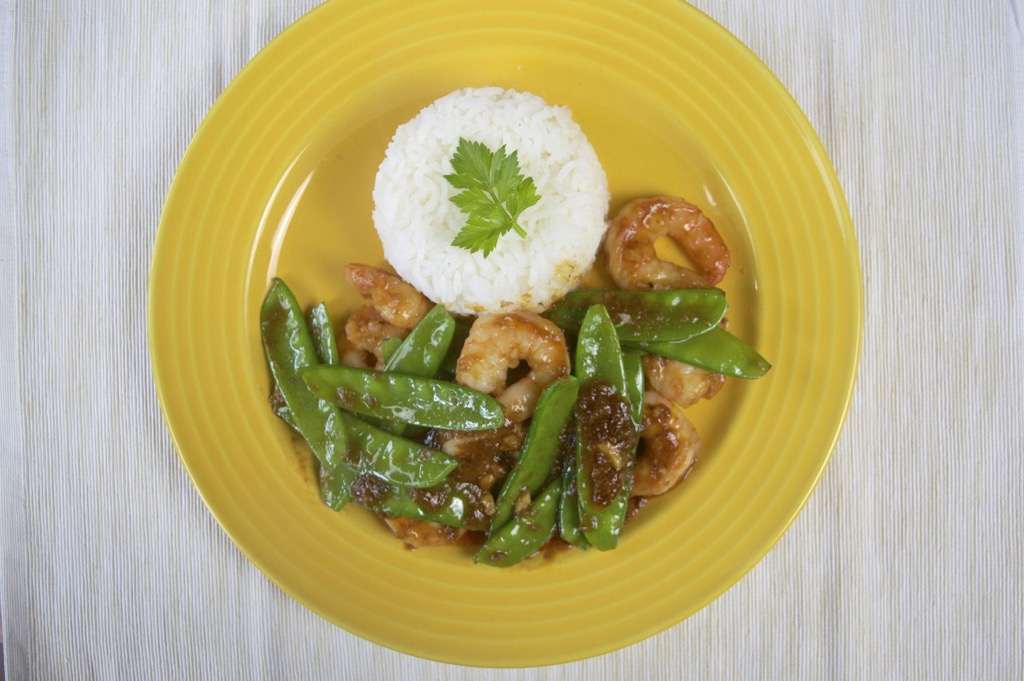 stir fried shrimp in crab paste