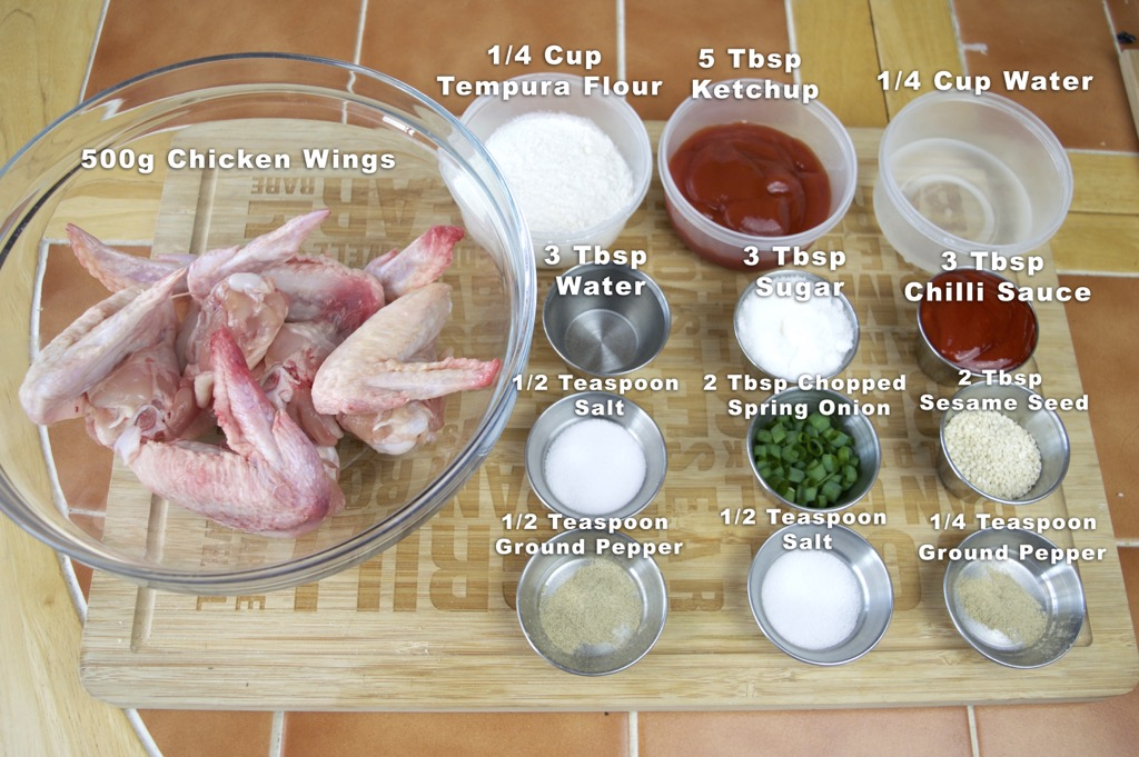 3 Flavour Chicken Wings Ingredients