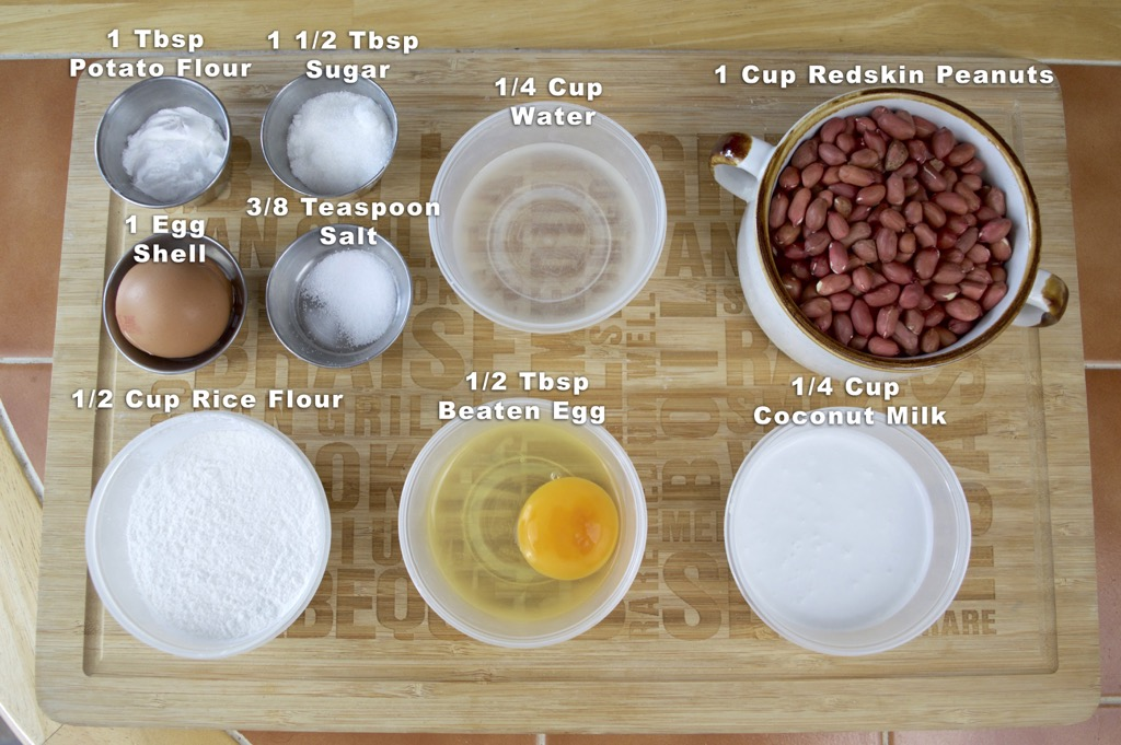 Crispy Fried Peanut Cake Ingredients List